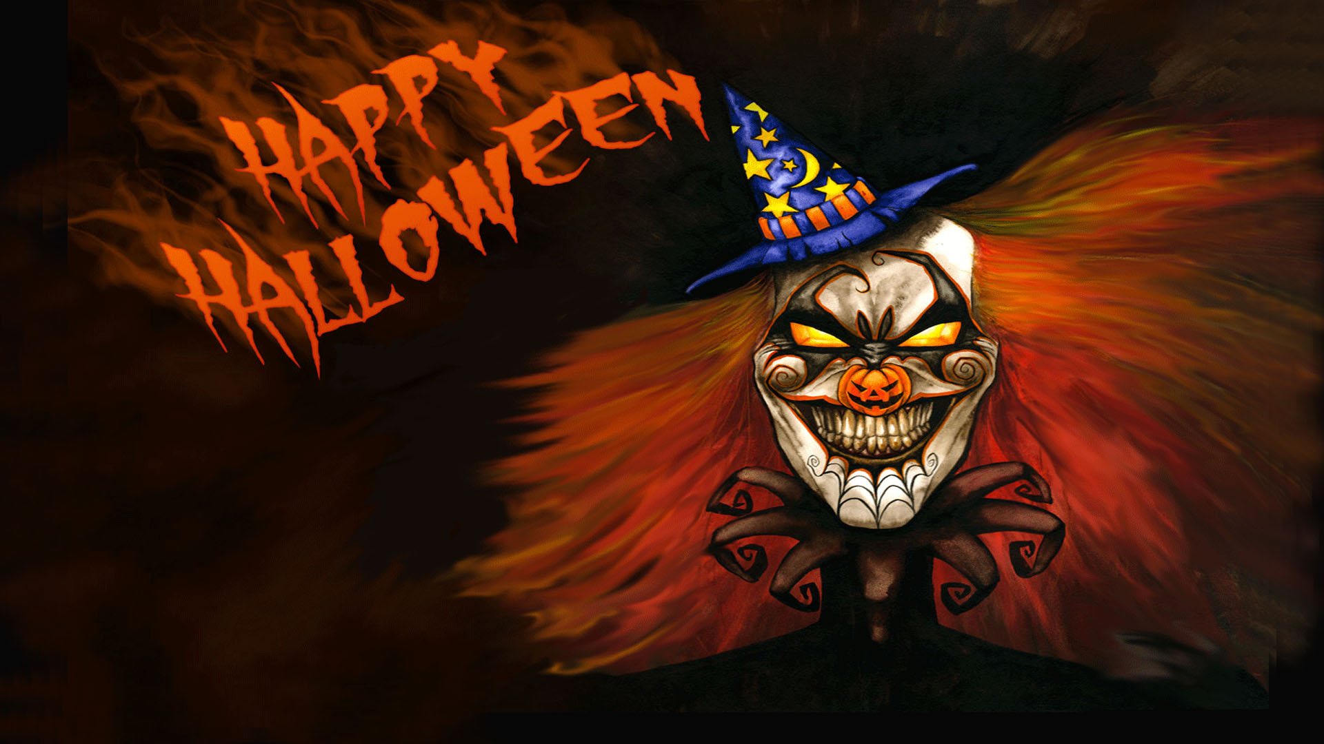 Halloween Phantom Clown Wallpaper