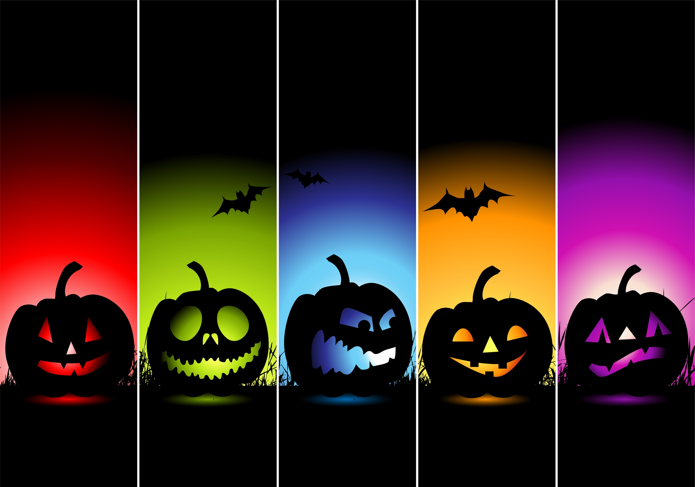 Colorful-Halloween-Horor-Wallpaper