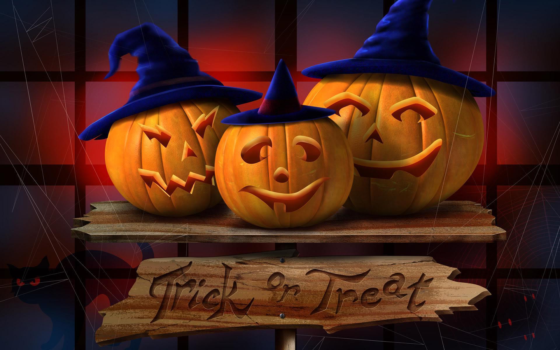 Lights-of-Halloween-Pumpkins-Wallpaper-Background
