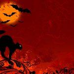 Halloween-wallpapers-cat-red