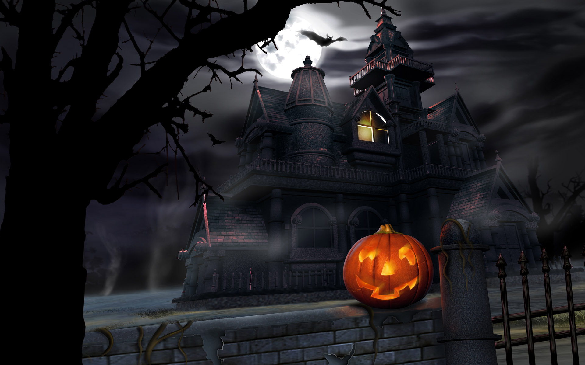 House-and-pumpkin-halloween-wallpapers