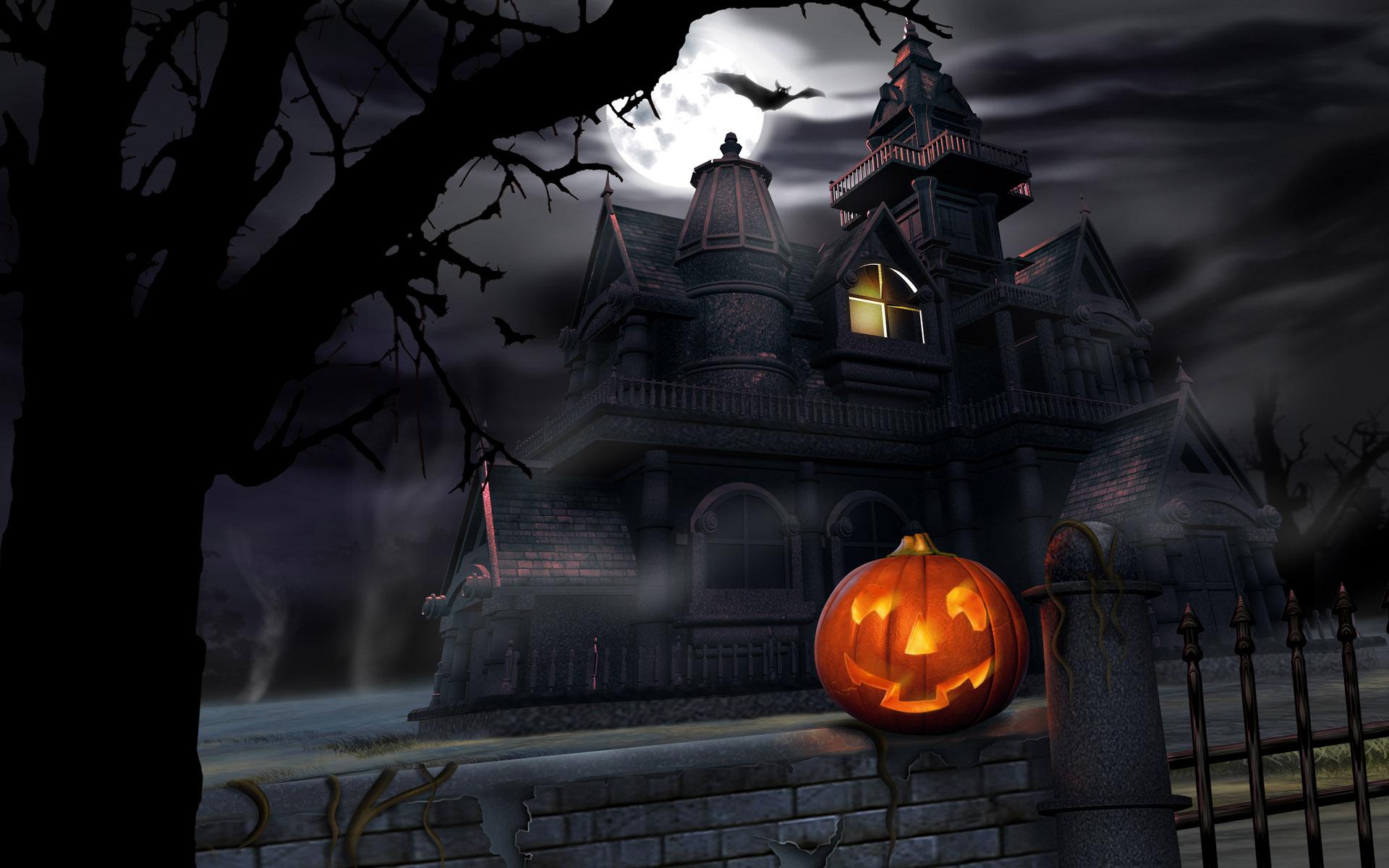 House-and-pumpkin-halloween-wallpapers